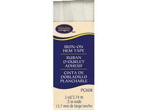 Wrights Iron-On Hem Tape, 1/2 by 3-Yard, Oyster