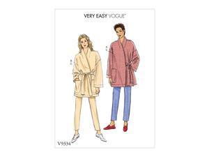 Vogue V9334 Misses Sportswear Pattern Y (Sizes XS-M) Multi