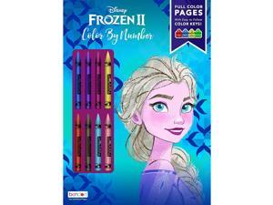Disney Frozen 2 Color by Number 32-Page Activity Book with Crayons 45824