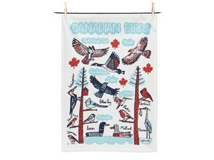 Abbott Collection 56-KT-JG-03 Canadian Birds Tea Towel-20x28 L, Multi-Color