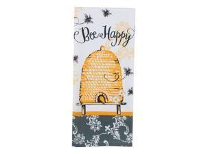 Kay Dee Designs Cotton Tea Towel, 18 by 28-Inch, Bee Happy