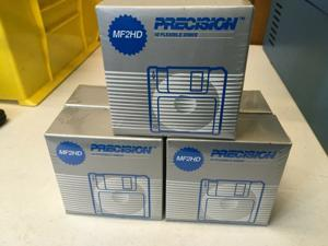 """NOS Lot of 50- 5 boxes of 10 Precision MF2HD Double-Sided 3.5"""" Floppy Disks"""