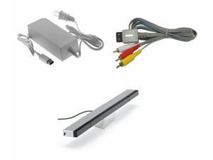 For Nintendo Wii U AV Cable Power Supply Sensor Bar Bundle Cord Charger