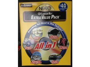 FELLOWES NEATO CD LABELER ALL IN ONE KIT  84090  Extra Value Pack
