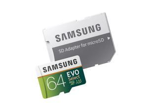 Samsung 64GB 100MB/s (U3) MicroSDXC Evo Select Memory Card with Adapter (MB-M...