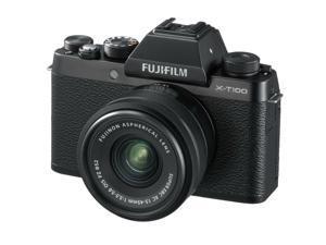 Fujifilm X-T100 Mirrorless Digital Camera, Black w/XC15-45mm PZ OIS Lens