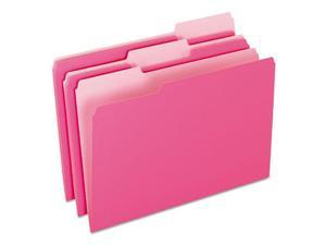Pendaflex Colored File Folders, 1/3 Cut Top Tab, Legal, Pink/Light Pink,...