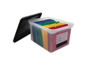 Innovative Storage Designs File Tote with Contents Label Letter/Legal Clear