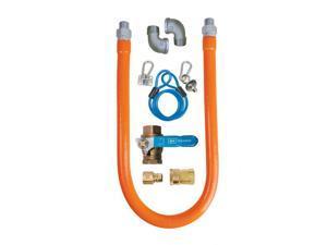 "Commercial Kitchen Gas Hose Line Safety System Kit 48"" x 3/4"""