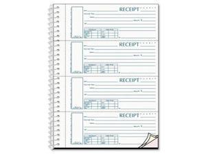 Rediform 3-part Wirebound Money Receipt Book - Wire Bound - 3 Part - (s16444wcl)