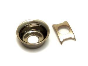 "Black Nickel Recessed ""Cup"" Jack Plate for Fender Telecaster/Tele JP-TLC-BN"