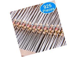AUSTOR 925 Pieces 37 Values 5% Carbon Film Resistors Assortment Kit, 0 Ohm-1M...