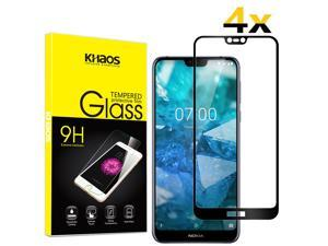 4-Pack Khaos For Nokia 7.1 Full Cover Tempered Glass Screen Protector -Black