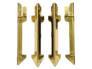 Carver Hardwood Stackable Desk Tray Four-Posts Brass 07256