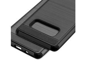 For Samsung Galaxy Note 8 - HYBRID SHOCKPROOF BRUSH SILK ARMOR CASE COVER BLACK