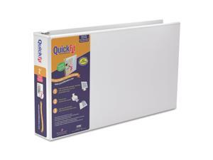 """Stride QuickFit Ledger D-Ring View Binder 2"""" Capacity 11 x 17 White 94030"""