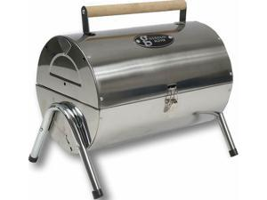 Gibson Home Wilkerson Double Barrel Stainless Steel BBQ Grill W/Lock and Legs