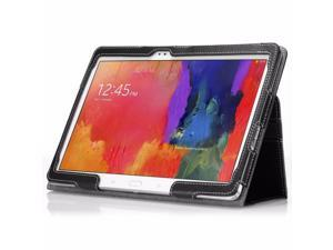 For Samsung Galaxy Tab Pro 10.1 Case Poetic PU Leather Cover -SlimBookBlack