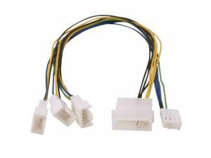 6in 15-Pin SATA Power to 4-Pin Molex Internal Power Cable w// Metal Latch PC-014L