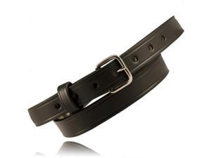 Boston Leather 6570-1-38-N Plain Black Nickel Buckle Riverside Duty Belt 38/""