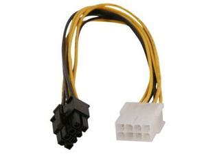8 pin to 8 pin EPS ATX male to female power extension cable 20CMs
