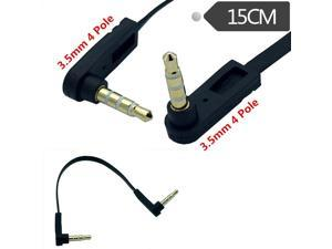 15CM  3.5mm right angle mini plug stereo audio Headphone Extension cable