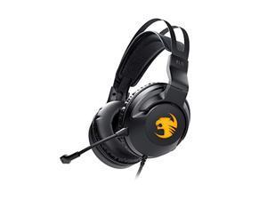 roccat elo 7.1 usb surround sound rgb gaming headset, black