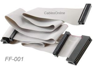 24-inch Universal Floppy Drive Ribbon Cable for 3.5 or 5.25in Drives, FF-001
