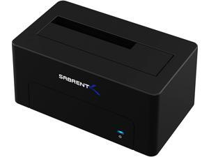 Sabrent USB 3.1 to SATA External Hard Drive Docking Station for 2.5 or 3.5in HDD, SSD [Includes Both Type C and Type A Cables Supports UASP and 10TB Drives] (DS-UTC1)