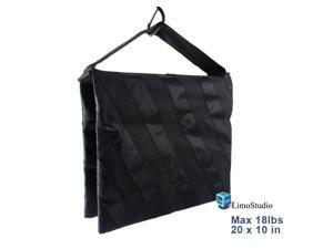 Black Color Holds 18lbs for Photo Studio Light Stand and Boom Stand AGG1844 LimoStudio 2 Pieces Saddlebag New Sand Bag Heavy Duty Weight Bag