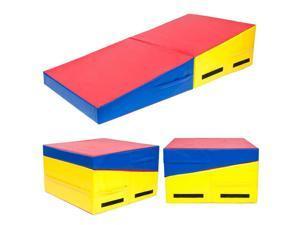 "Incline 60""x30""x14"" Gymnastics Mat Wedge Folding Gymnastics Gym Fitness Tumbling"