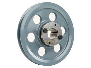 """Cast Iron 8.25"""" Single 1 Groove Belt A Section 4L Pulley  1-3/16 Sheave Bushing"""