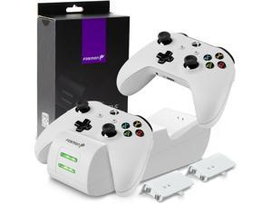 Controller Charge Dock Ston Battery Pack + Wall Charger Xbox One S X [WHITE]