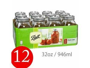 Ball 62000 1qt Regular Mason Jar 12pk