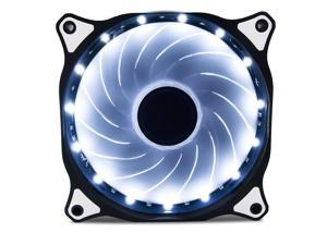120mm DC 15 LED Cooling Case Fan PC Computer Quiet Edition CPU White Light