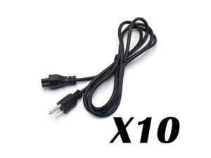 Lot of 100 PC 3-Prong AKA Mickey Mouse AC Power Cord for Laptop PC