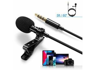 3.5mm Lavalier Lapel Microphone Omnidirectional Mic For Smartphone PC Computer