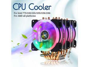 no Light 12CM Chassis Fan Multi-Platform CPU Cooler CPU Cooling Silent No Light 12cm Black Frame Red Leaves Color : Black Hongyushanghang CPU Cooler