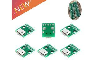 10pcs/lot Micro USB To DIP Adapter 5pin Female Connector Module Board Panel Female 5Pin Pinboard B Type PCB 2.54MM