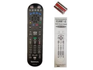 SPECTRUM (Time Warner) Cable TV VCR DVD AUX Remote Controller CLIKR-5 UR5U-8780L