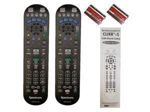 LOT OF 2 SPECTRUM (Time Warner) Cable TV Remote Controller CLIKR-5 UR5U-8780L