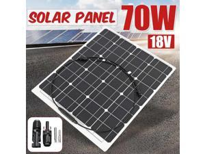 70W 18V Flexible Solar Panel Waterproof Solar Cell Module MC4 Cable for Car Yacht Led Light RV 12V Battery Boat Outdoor Charger