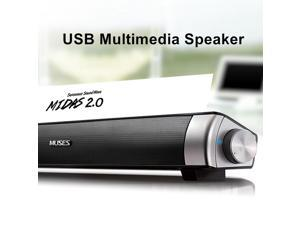 Speaker Wired Soundbar Speaker HIFI Bass Stereo Sound Bar with USB AUX Mic for Computer PC Smartphone TV Home Theater Laptop