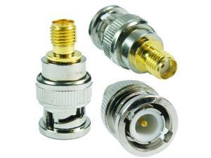Mini RF Antenna Adapter BNC Male to SMA Female Radio Antenna Coaxial Cable Connector Adapter for Kenwood Cable