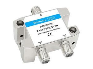 2Way Coaxial Cable Splitter 52500MHzWork with CATV Satellite TVAntenna System and MoCA Configurations 2 Way