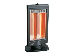 Comfort Zone CZHTV9 Oscillating Electric Halogen Radiant Heater with Slimline Flat Panel Design, Black