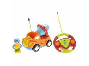 Cartoon R/C Construction Car for Kids Orange