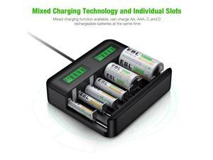 AA AAA C D Cell C D Size Battery Charger For NIMH NICD Rechargeable Battery