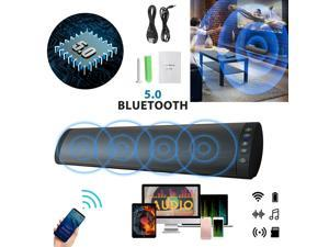 Bluetooth Sound Bar Wired Wireless Bass Subwoofer Home Stereo Theater TV Speaker