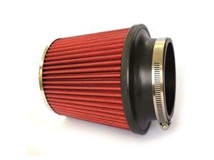 """New 3"""" Inches Race Performance Cold Red Air Intake Cone Filter Universal"""